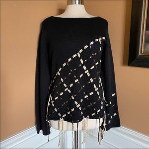 Ruby cho tassel sequin bell sweater black Large